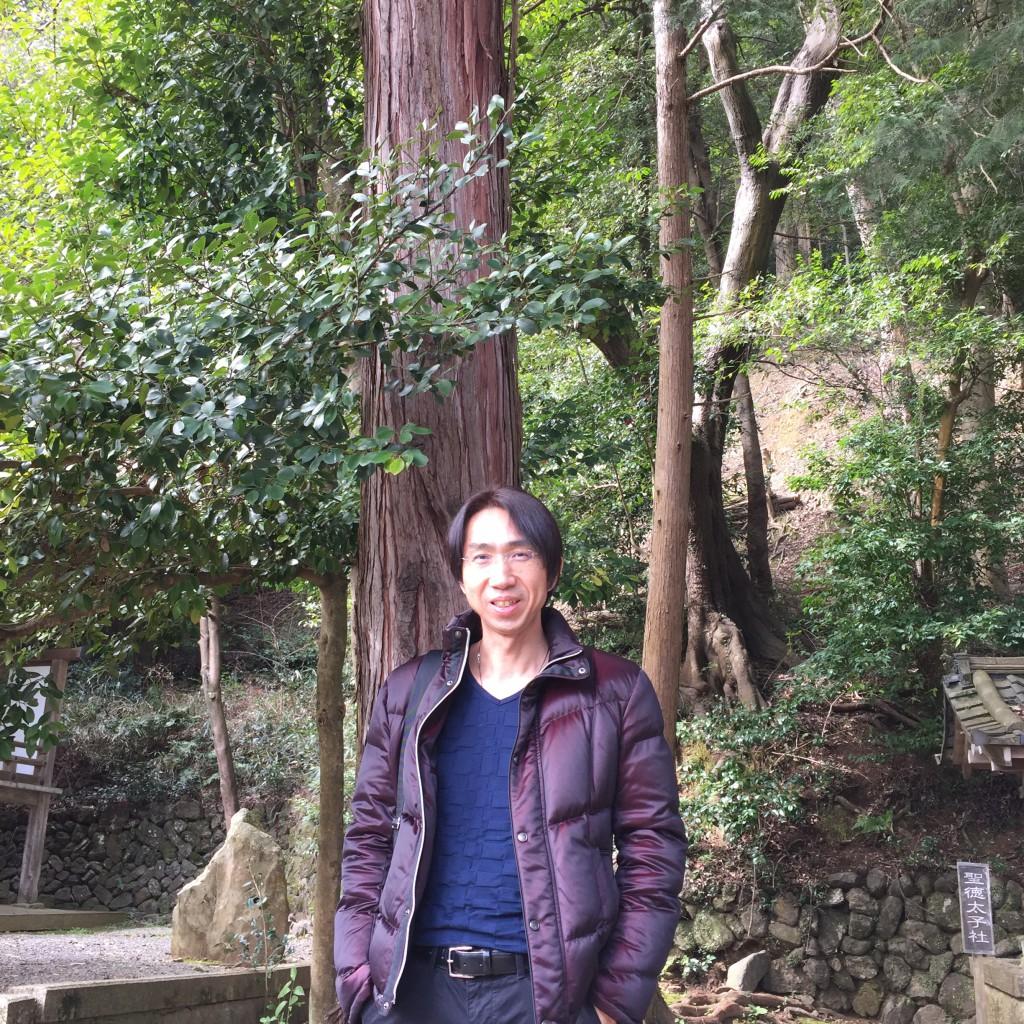 京都にある縁結びの神様がいらっしゃる神社での1枚