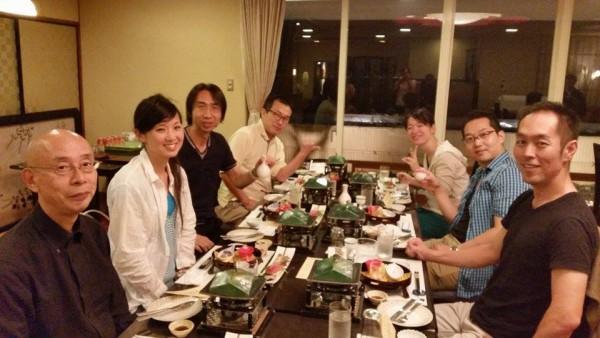 理念合宿 in 三浦海岸での食事