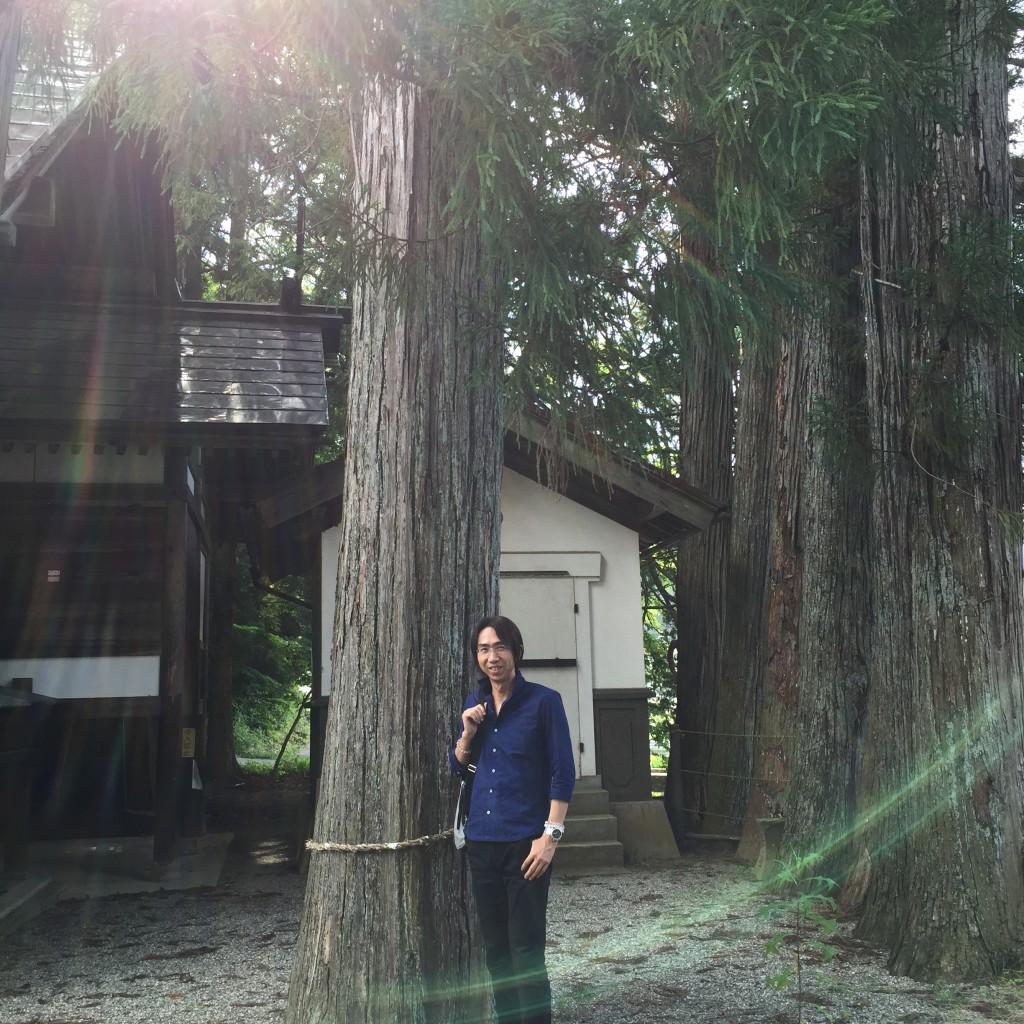"""岐阜県高山市にある""""とある神社""""での1枚"""