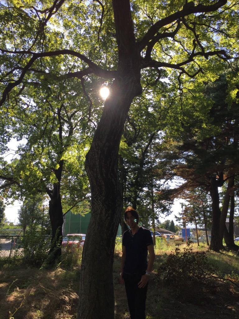 """長野県松本市にある""""とある神社""""での1枚(神様写ってます)"""