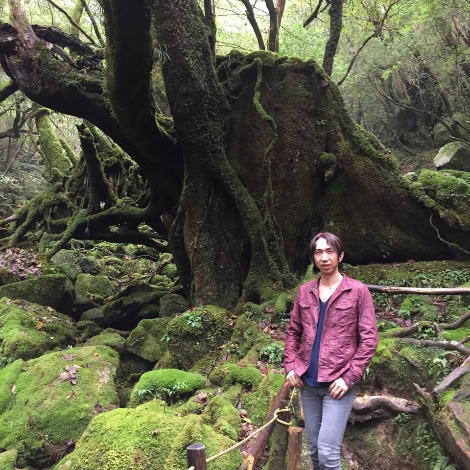 白谷雲水峡「苔むす森」での1枚