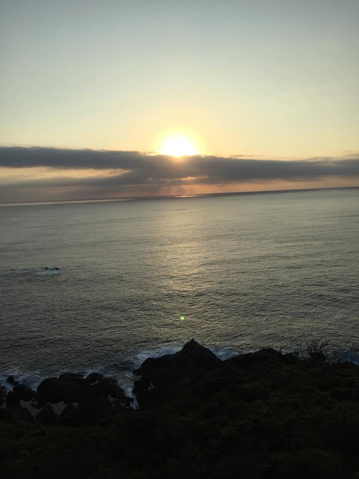屋久島JRホテルから海を撮影