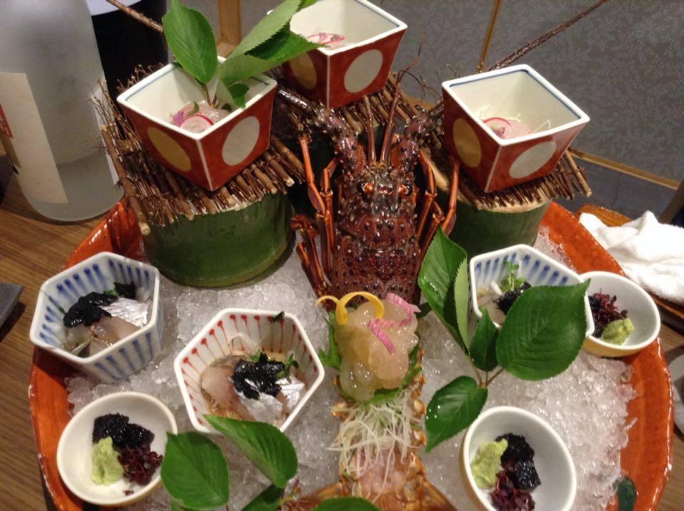 伊勢神泉でのご夕食・伊勢海老のお造り