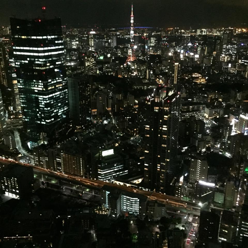 リッツカールトン・東京タワー側の夜景