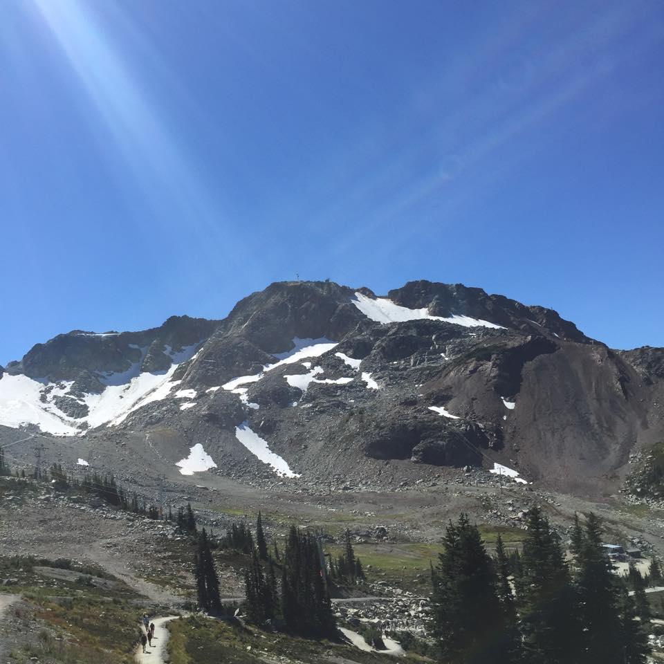 カナダ・ウィスラー山頂から撮影